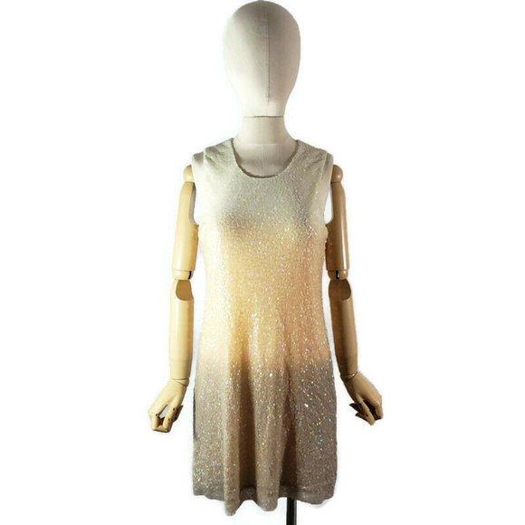 YOUNG FABULOUS & BROKE Ombre Sequin Mesh Dress M